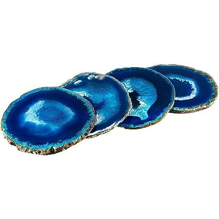 Set of 4 Aurora Dust Geode Coaster
