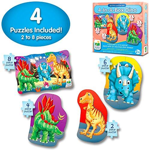 Learning Journey The Kit Mon Premier Puzzle 4-en-1 ! Dino
