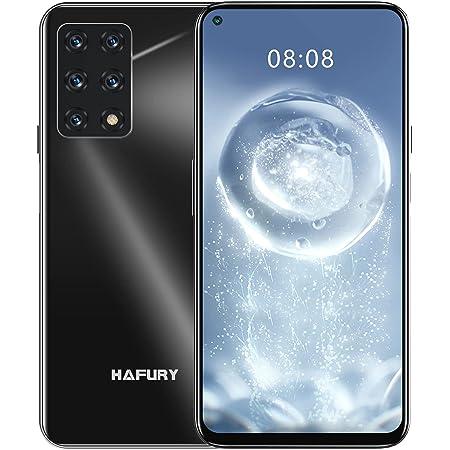 HAFURY Smartphone GT20, Teléfono Móvil 4G 8GB+128GB Pantalla 6,4'' Cámara 48MP+32MP Batería 4200mAh, 1080P Android 10 Dual SIM Procesador Octa-Core Desbloqueo Facial NFC OTG Negro