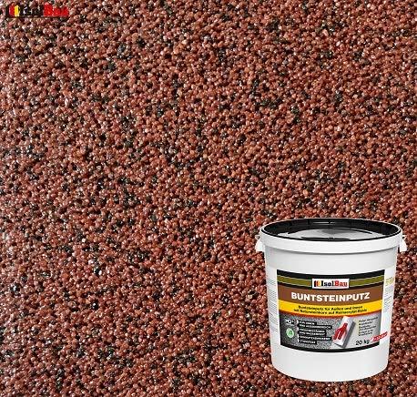 Buntsteinputz Mosaikputz BP80 (rotbraun, schwarz) 20kg Absolute ProfiQualität