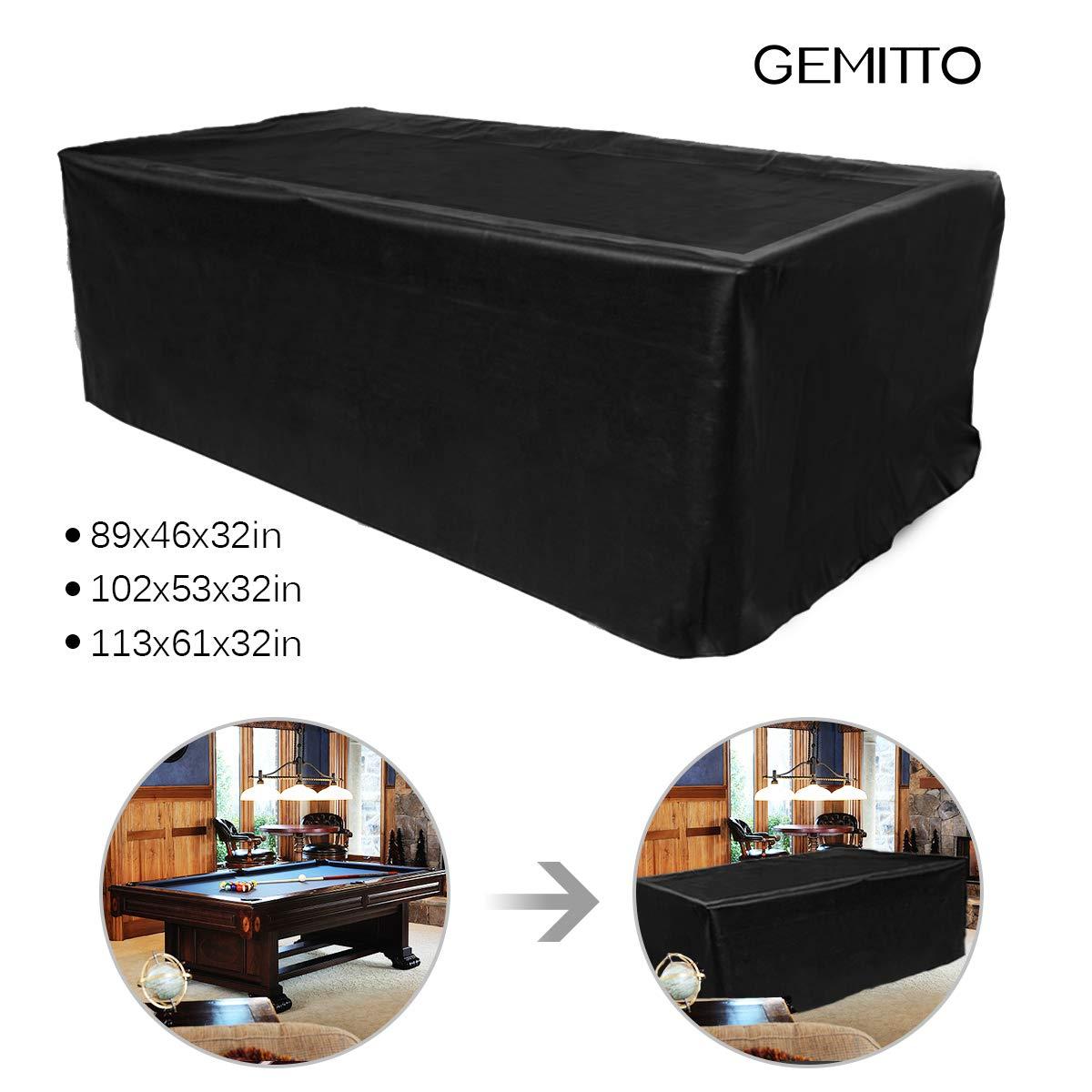 GEMITTO - Funda Protectora para Mesa de Billar (Impermeable, para ...