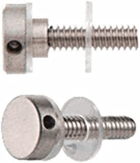 """CRL CAP12BS 316 Brushed Stainless 1/2"""" Diameter Standoff Cap Assembly"""