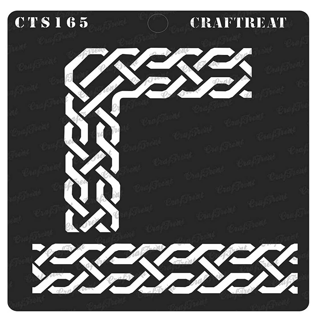CrafTreat Stencil - Celtic Borders1 | Reusable Painting Template for Notebook, Home Decor, Crafting, DIY Albums, Scrapbook, Decoration and Printing on Paper, Floor, Wall, Fabric, Wood 6