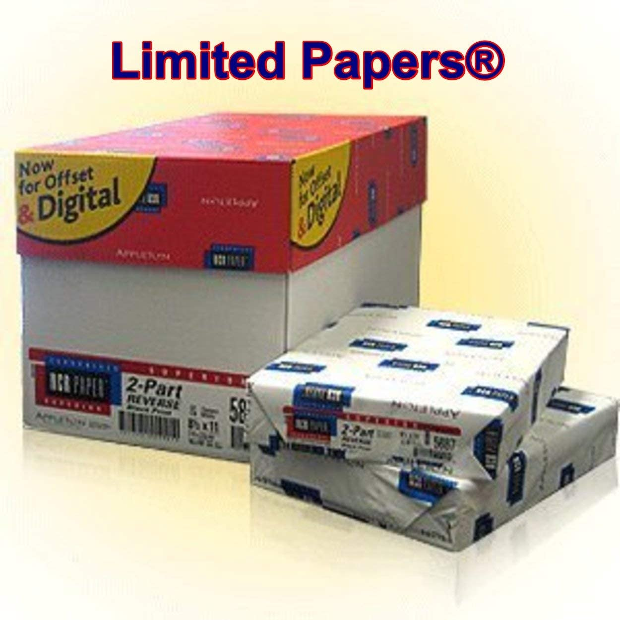 250 Sets Dallas Mall NCR Paper 5887 Collated Canary 2 Part Max 66% OFF White Lett