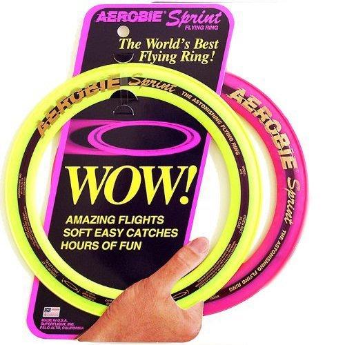Aerobie Sprint Flying Ring, 10' Diameter, Assorted Colors, Set of 2