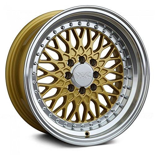 XXR Wheels 536 Gold Wheel with Machined Finish Lip (15 x 8. inches /4 x 100 mm, 0 mm Offset)