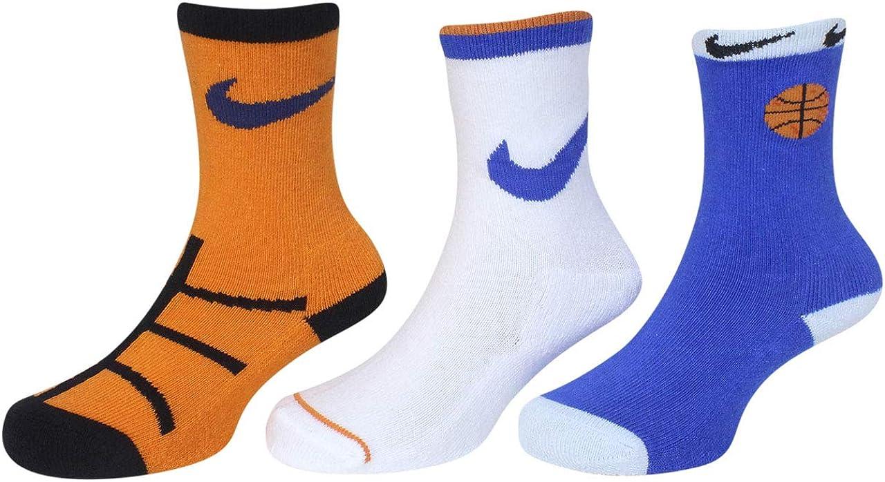 Nike Sports Ball Socks Toddler Boy's 3-Pairs Crew