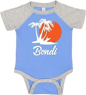 Bondi Australia Beach Sunset Surfer Baby Raglan Bodysuit