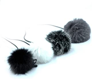 Iycorish Universal Lavalier Microphone Furry Windscreen Fur Windshield Wind Muff Soft for Rode Lapel Lavalier Mic 5Mm