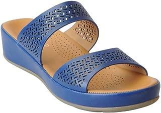 Liberty Healers Ladies Fashion N.Blue Slippers