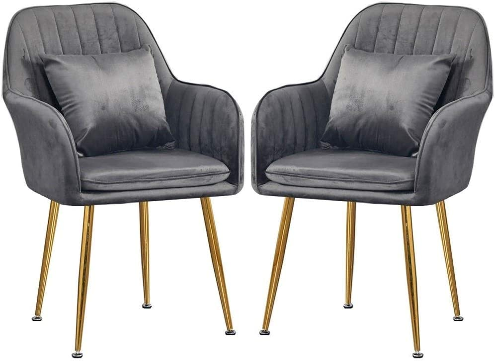 Home Set of 2 Dining Chairs Back Tufted Metal New sales with Don't miss the campaign High Design
