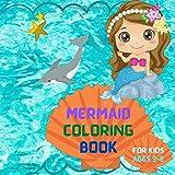 Mermaid Coloring Book: Square Toddlers Activity Book ,For kids ages 3-8, Kidie Mermaid Coloring, Cute Little Mermaids Girls Boys