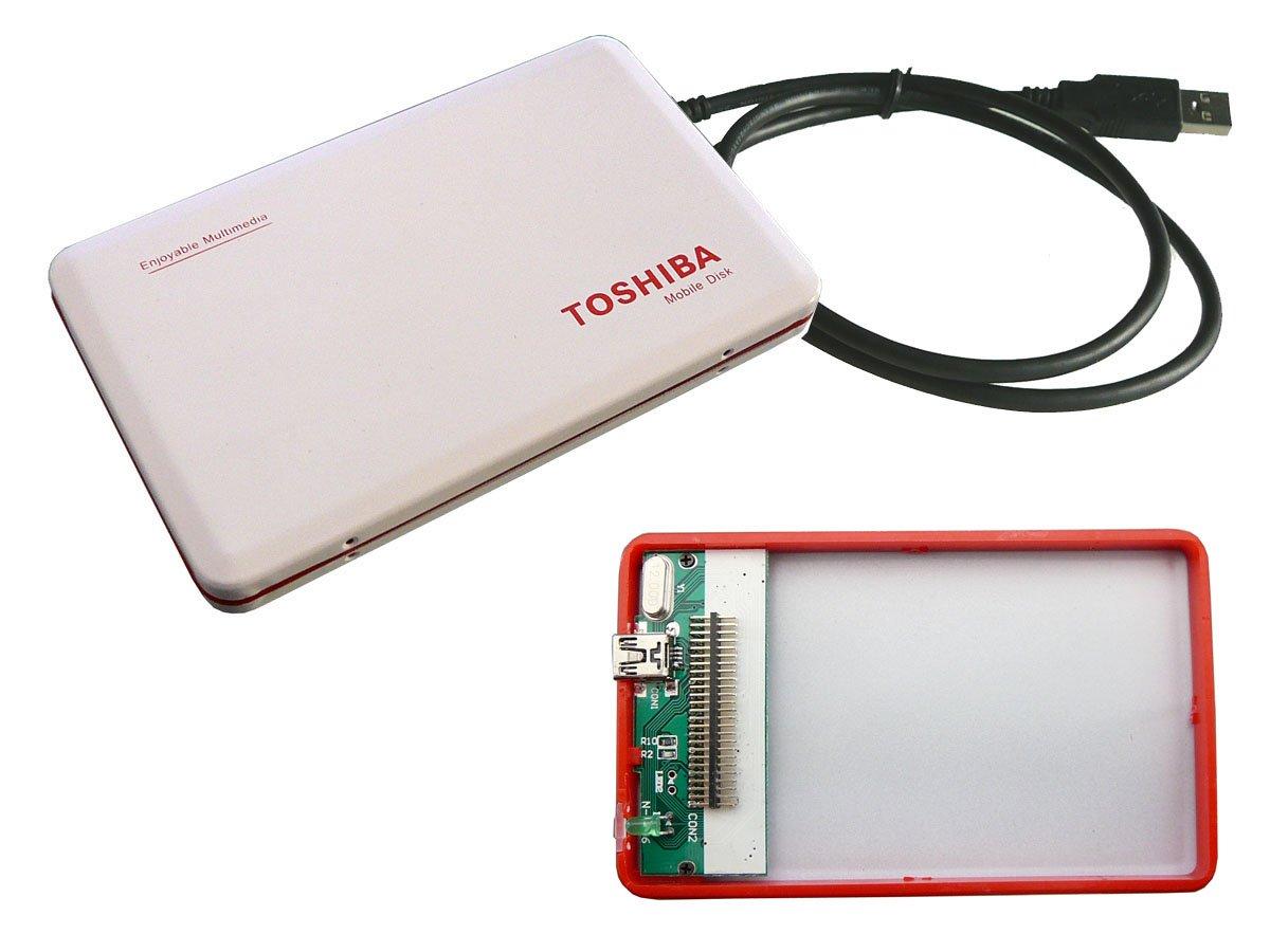 Caja externa de aluminio para disco duro IDE 1,8-TOSHIBA: Amazon.es: Informática