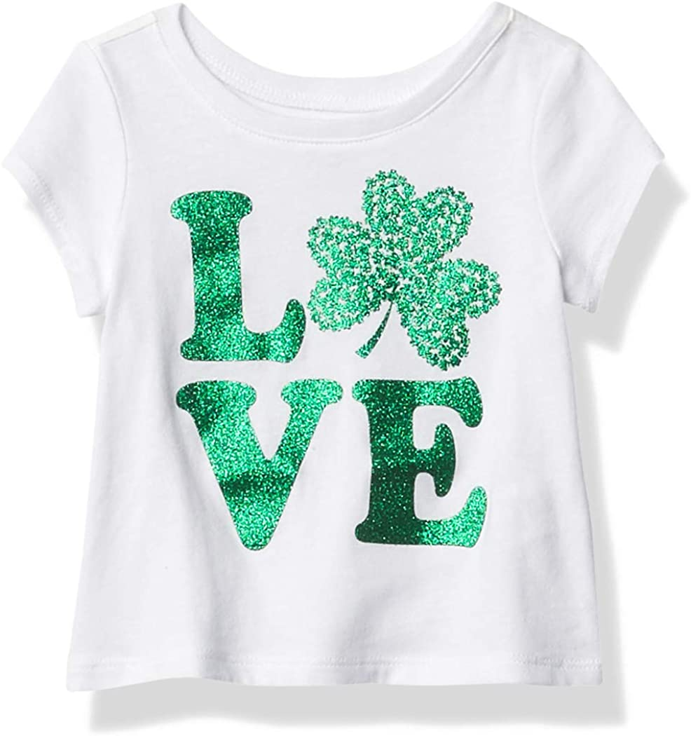 The Children's Place Girls' Baby and Toddler St. Patrick's Day Graphic Tee