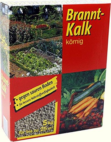 Branntkalk körnig 5kg Gartenkalk Brannt Kalk GPI Düngekalk Gesundungskalk