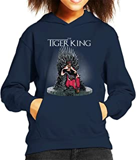 Tiger King Joe Exotic Iron Throne Kid's Hooded Sweatshirt