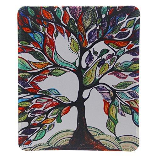 Mauspad - Tsmine Mauspad (24 X 20cm) rutschfeste Gummituch-Spiel-Mausunterlage Schwarzes Mousepad Waschbare Mausunterlage - Lucky Tree