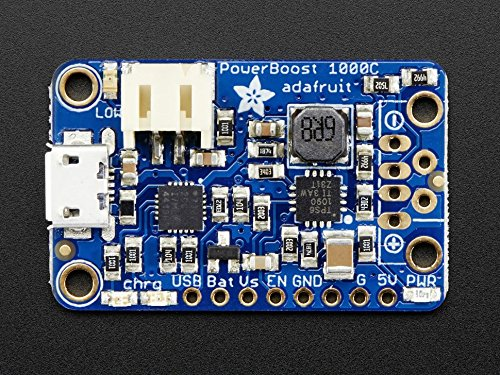 Adafruit PowerBoost 1000 Charger - Rechargeable 5V Lipo USB Boost @ 1A - 1000C