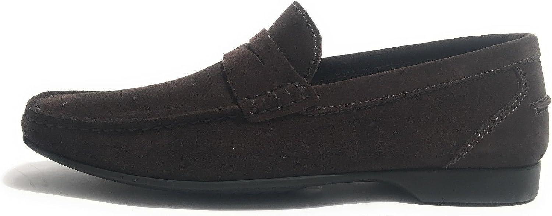 Elite Men's Loafer Flats Dark Brown (di Mgold)