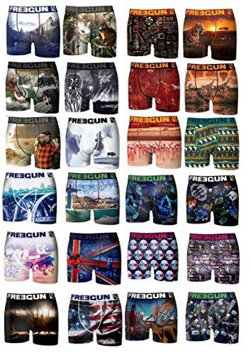 Freegun Boxershorts, verschiedene Farben, 12 + 1 gratis Gr. XXL, mehrfarbig
