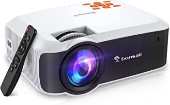 Mini Projector 1080P HD Supported,Bonsaii 4500 Lumens Outdoor Portable Projector,Video Projector Compatible with Hdmi,TV S...