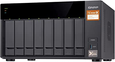 QNAP TS-832X-2G-US High-Performance 8-Bay 64-bit NAS with Built-in 2 x 10GbE (SFP+) Network, Hardware Encryption, Quad Cor...
