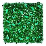 6 Pieces 39.4 Feet St. Patrick's Day Tinsel Garland Irish Metallic Tinsel Shamrock Clover Tinsels Green Chunky Glittering Tinsel for St. Patrick's Day Irish Party Decoration