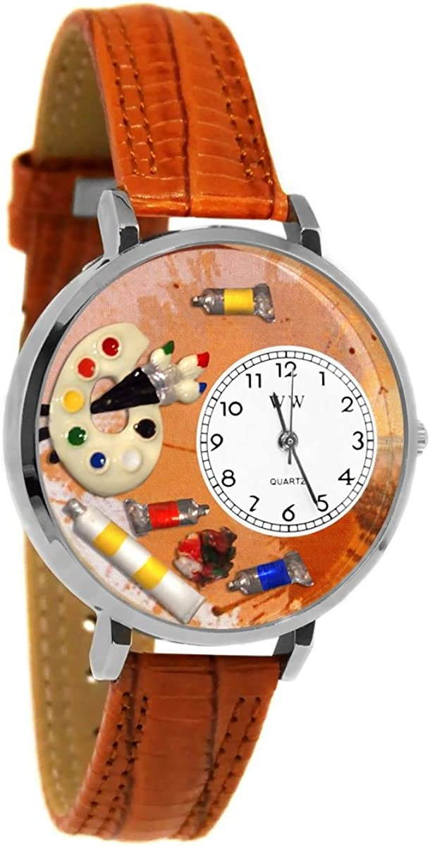 Whimsical Raleigh Mall Gifts Artist Palette Watch Style Silver in Large lowest price