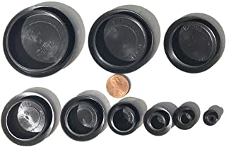 90 Piece Flush Mount Black Hole Plug Assortment for Auto Body and Sheet Metal