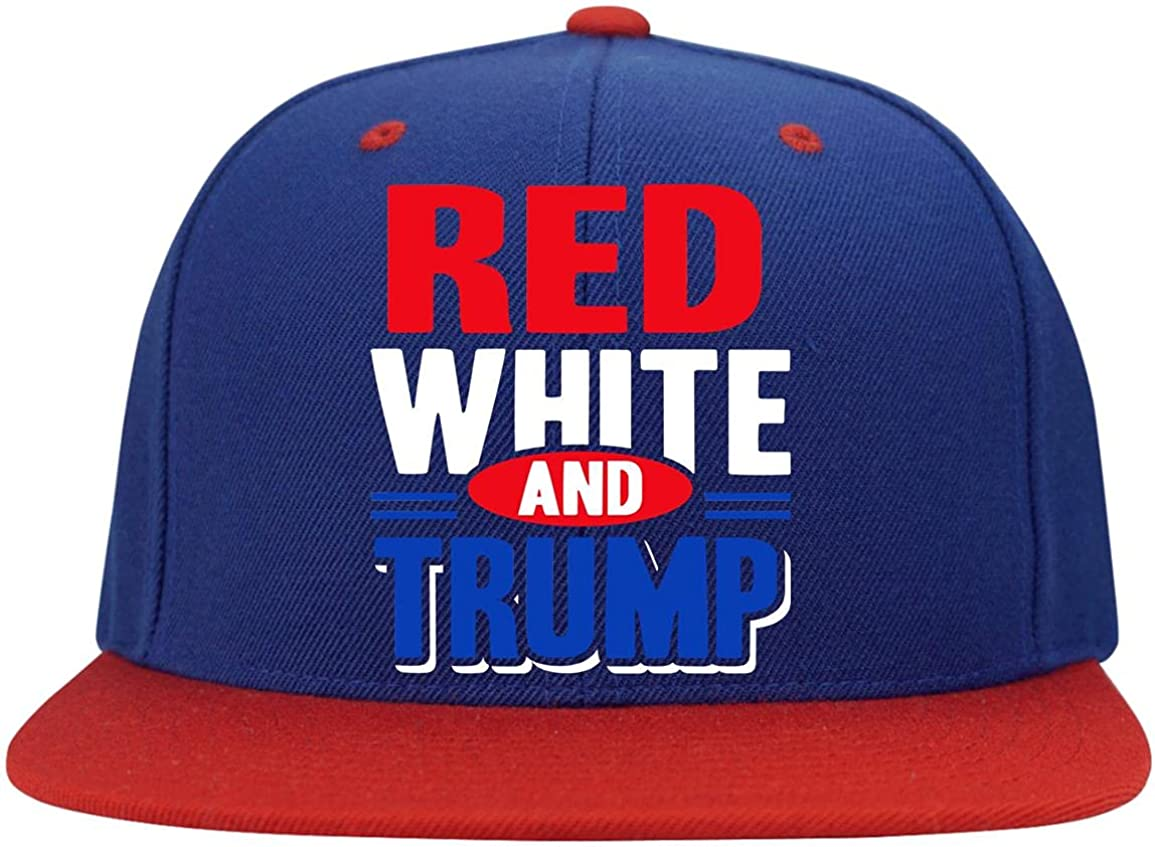 Cincidy Red White and Trump Twill - Cap free Snapback New Shipping Free High-Profile Ha