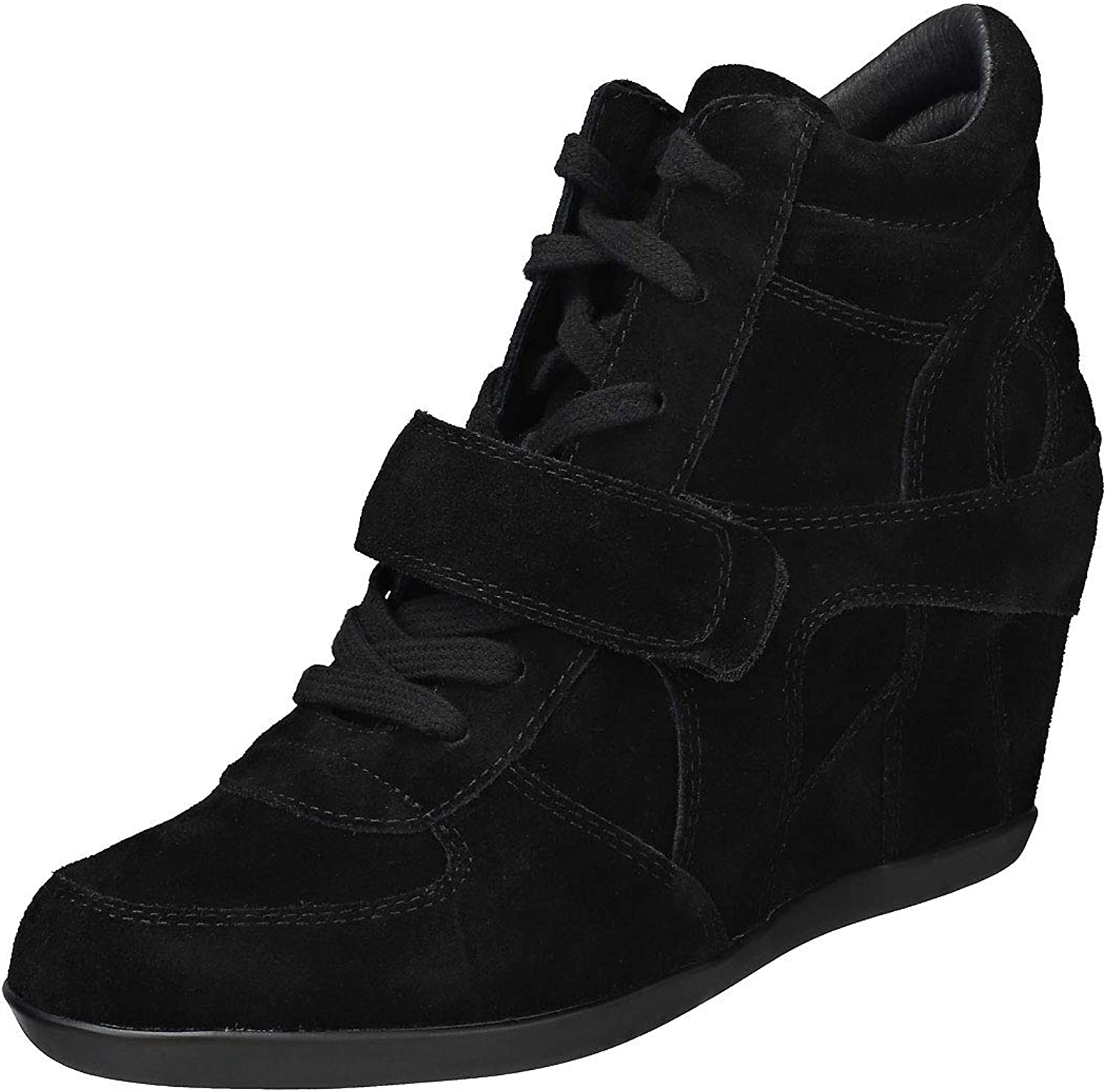 Ash Footwear Bowie nero Suede Wedge Trainer 37EU 4UK nero