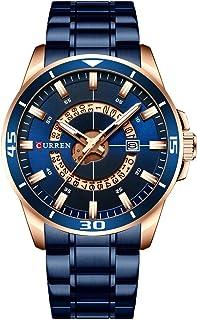 ساعة يد فيست نايت 8359 للرجال ساعات كوارتز مع مؤشر تقويم تاريخ عقارب مضيئة مضادة للماء مع سوار حزام من الفولاذ المقاوم للصدأ