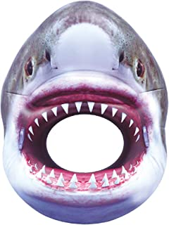 """Super Large Inflatable SHARK Pool Tube Toy for Kids & Adults. Funny, 54 """" Realistic Pool or Beach Party Float. Greet Frien..."""