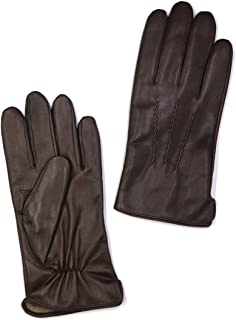 Mens Luxury Nappa Lambskin Leather Gloves(100% Wool/Cashmere Lining)