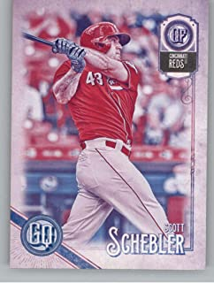 2018 Topps Gypsy Queen Missing Black Plate Baseball #127 Scott Schebler Cincinnati Reds Official MLB Trading Card From Topps
