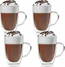 Dubbelwandige beker 300ml theebeker thermo beker koffie beker glas mond geblazen door Dimono (4 stuks)