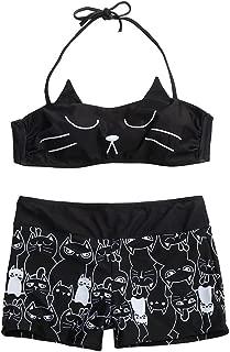 Sexy Women Girls Strappy Kitty Bikini Shorts Set Padded Bathing Swimsuit Swimwear