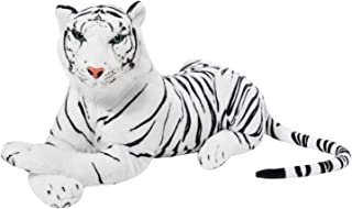 BRUBAKER White Plush Tiger 28 Inch Stuffed Animal