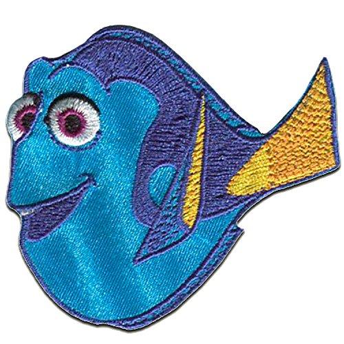 Buscando a Dory 'Dorie' Disney - Parches termoadhesivos bordados aplique para ropa, tamaño: 6,2 x 6,8 cm