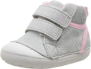 Stride Rite Girls' SM Milo Sneaker, Silver, 4.5 M US Toddler