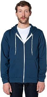American Apparel Men Flex Fleece Zip Hoodie Size L Sea Blue