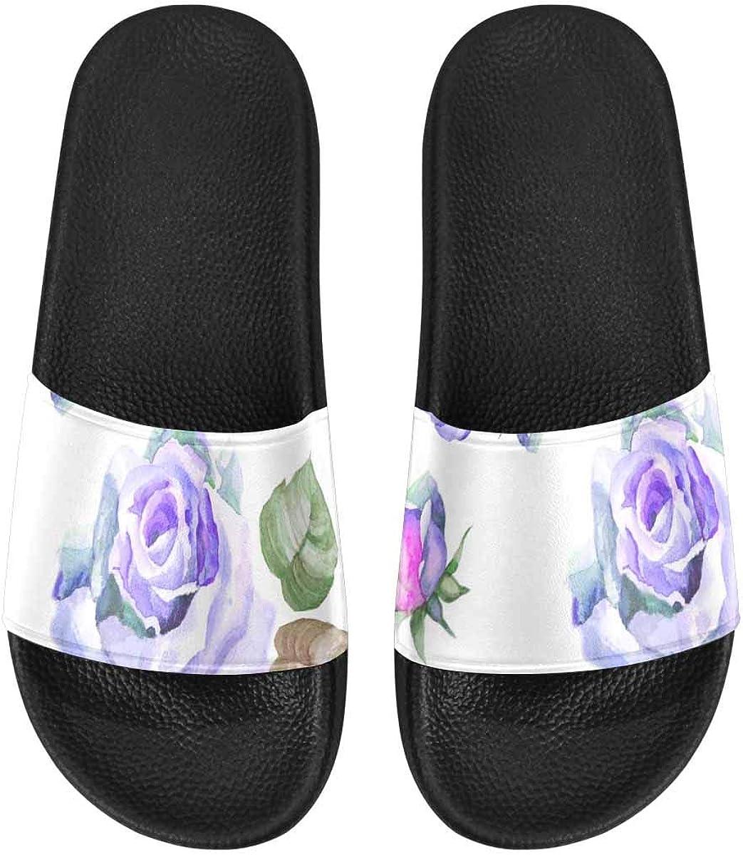 InterestPrint Women's Stylish Slipper Sandals Made from Soft Material Watercolor Funny Koala