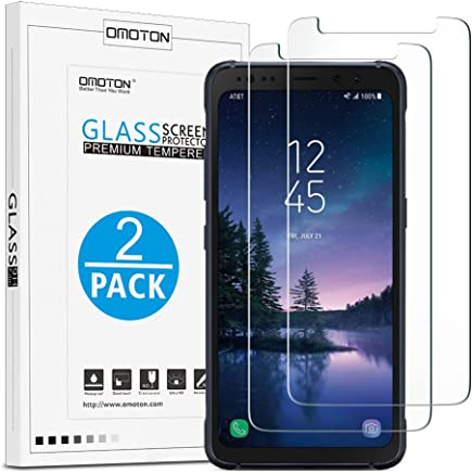 OMOTON Samsung Galaxy S8 Active Screen Protector [2 Pack],