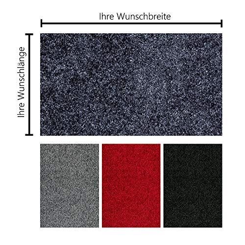 Schmutzfangmatte PT-max Uni nach Maß | Fußmatte in Wunschmaß | individuelle Größe | 60-115 cm Breite, 75-400 cm Länge | ab 61,27 € (87,45 €/m²) | gewählt: 81-90 cm breit, 75-100 cm lang, schwarz