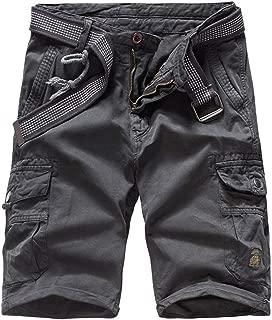 Zolulu Men's Cotton Casual Classic-Fit Cargo Shorts