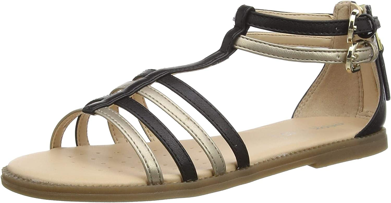 Geox J Sandal Seasonal Wrap Introduction Karly Girl Sandals 13 - Black Gold Girls Spring new work