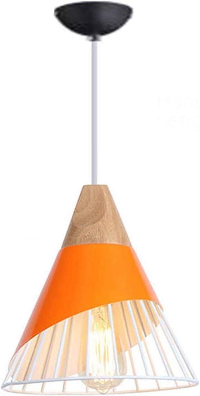 N / A Golpeado por la luz de Techo de Color Naranja de Hierro en Forma de iluminación Interior de Color Macaron bádminton salón Comedor Restaurante Bar Araña Creativa