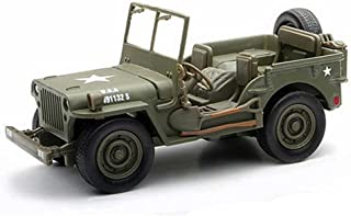 New Ray New 1:32 Collection - Green City Cruiser Jeep Willys WW II Military US Army Vehicle Model Car Toys