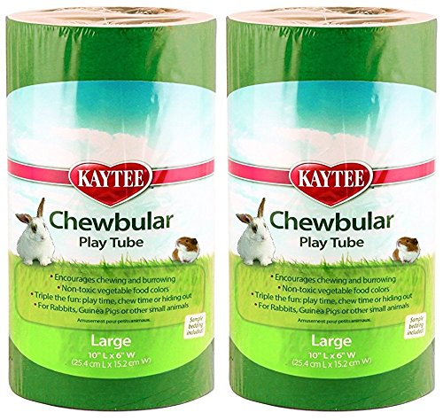 Kaytee 2 Pack of Chewbular Play Tubes, Large Size