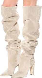None/Brand Over The Knee Boots Women Fur Warm Winter Shoes Women Fashion High Heel Thigh High Boots Long Women Shoes